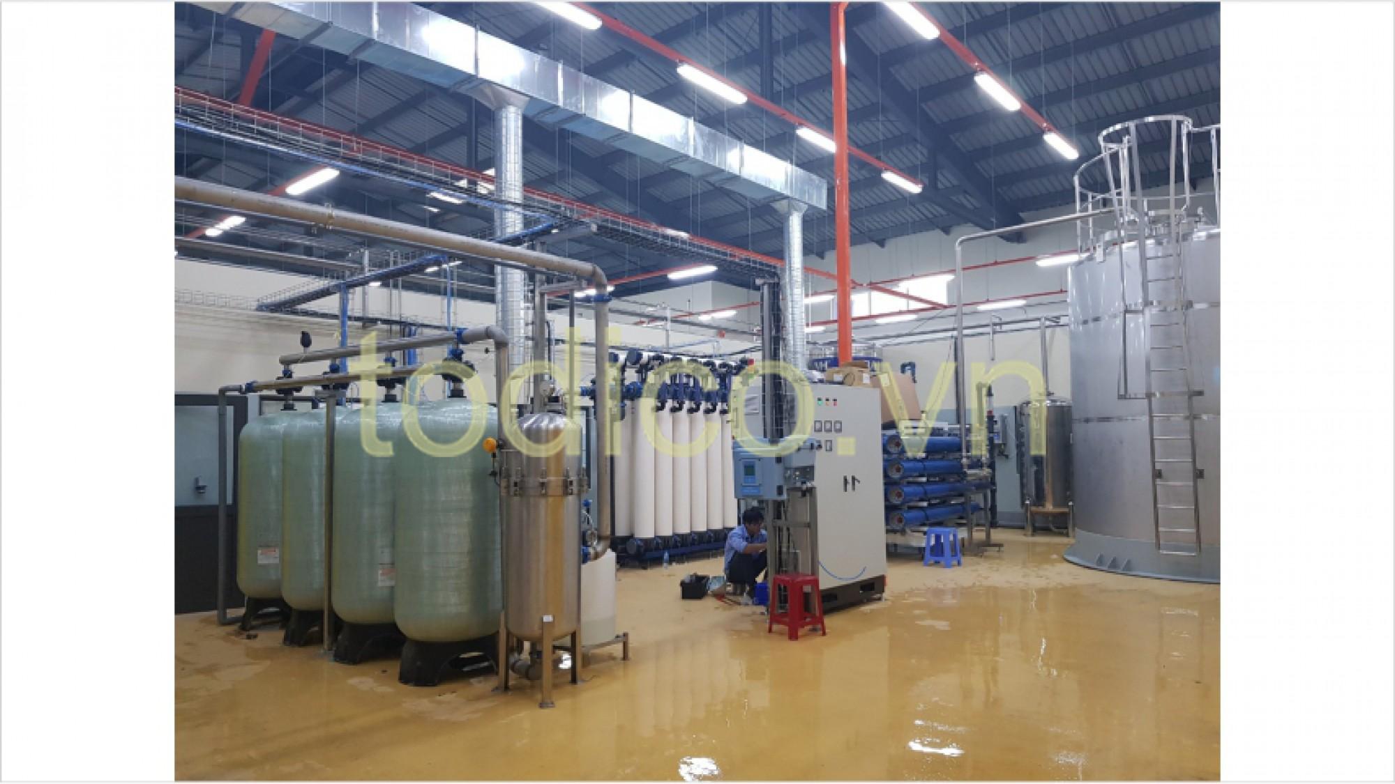 Hệ thống xử lý nước uống đóng bình bằng công nghệ RO