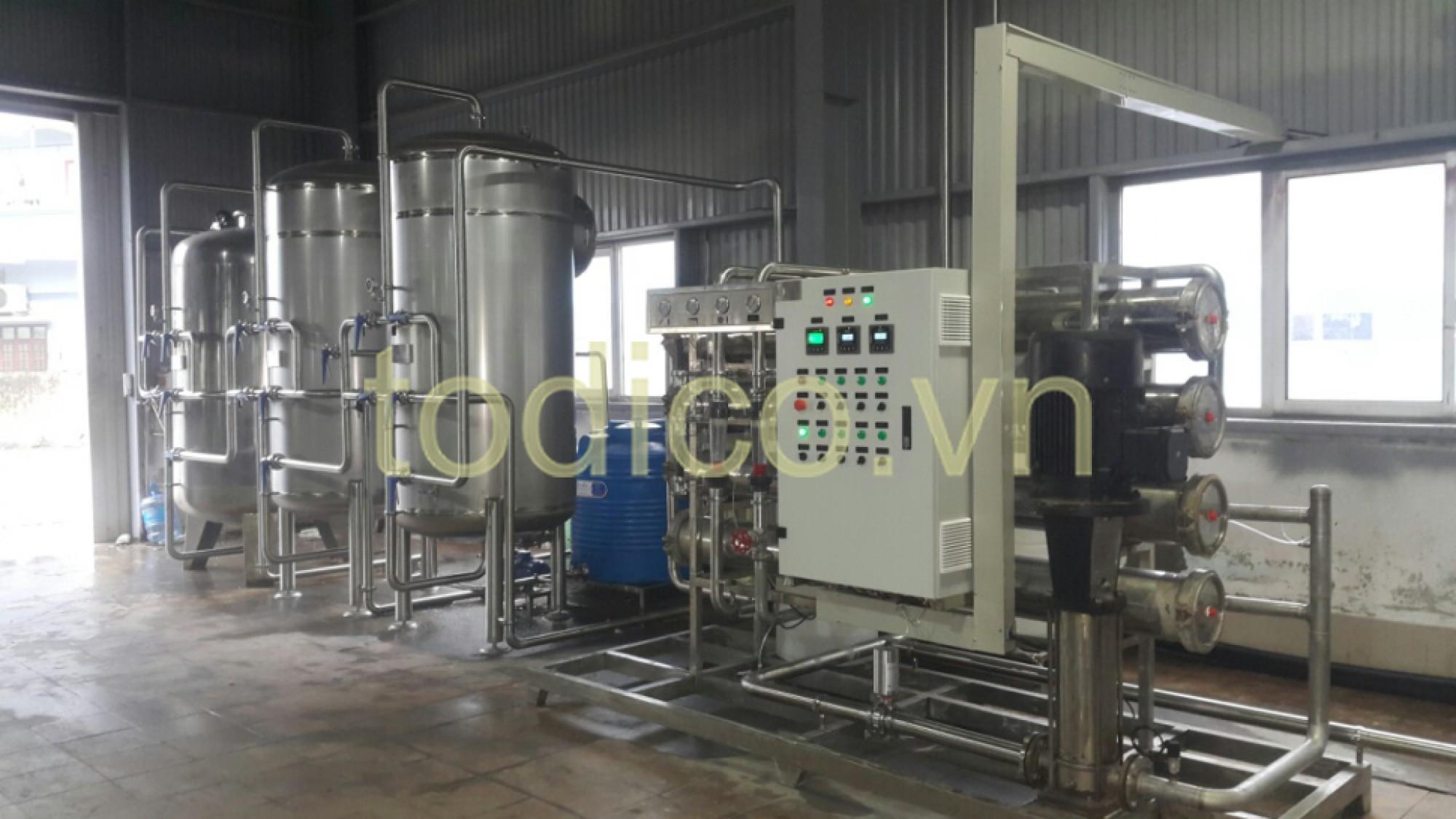 Hệ thống xử lý nước uống tinh khiết đóng chai - thương hiệu Cawa