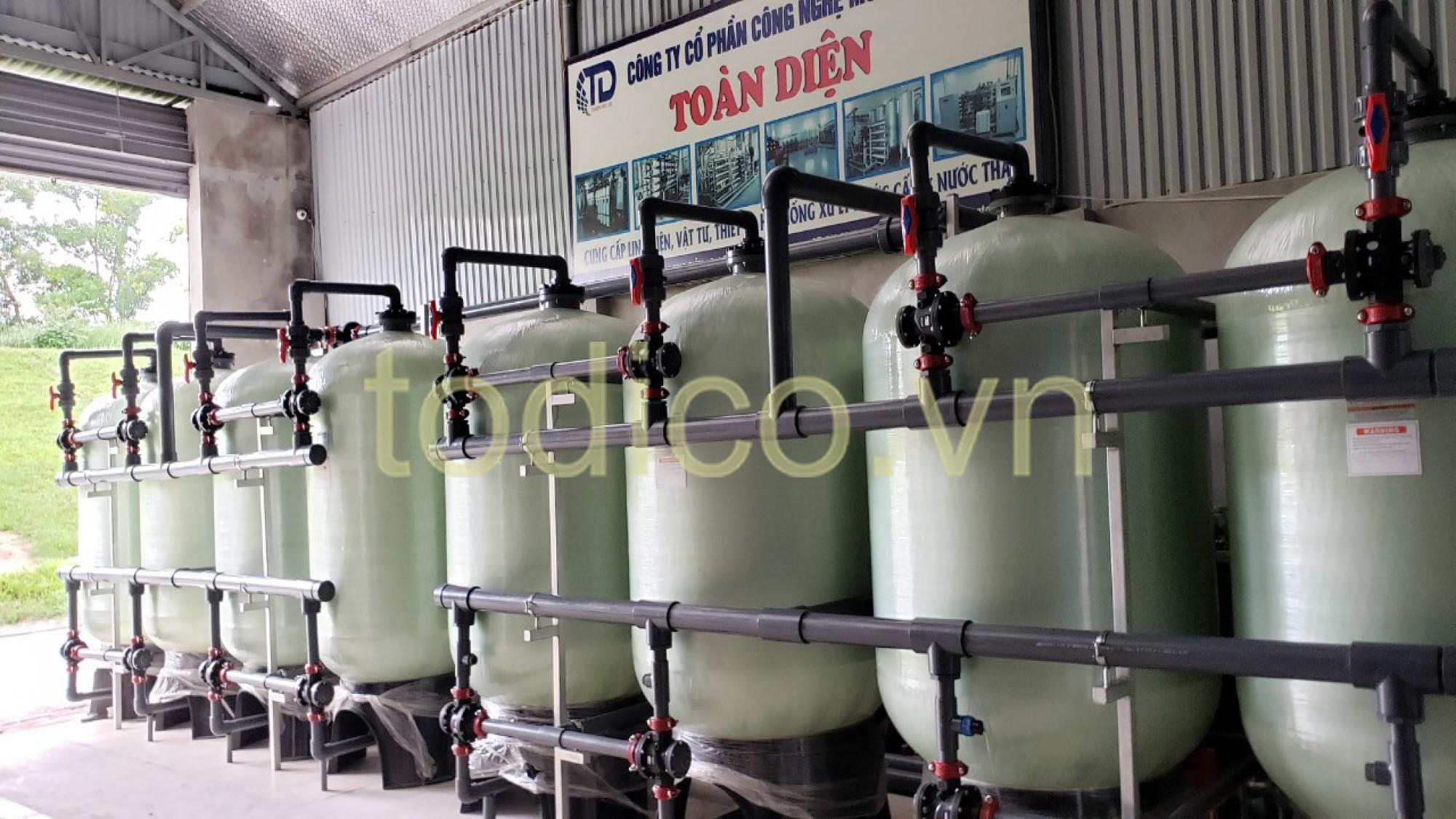 Hệ thống xử lý nước giếng khoan công suất 60m3/hr